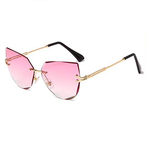 XMYNB Mujer Gafas de Sol Gafas De Sol De Ojo De Gato Mujeres Metal Gafas De Sol Lady Shades Uv400 Gafas