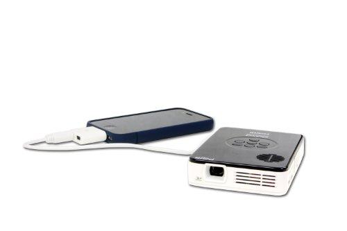 AAXA P2 Jr Pico Projector with 90 Minute Battery Life, Pocket Size, 15,000 Hour LED Life, Mini-HDMI, Mini-VGA, Media Player, DLP Projector Photo #3