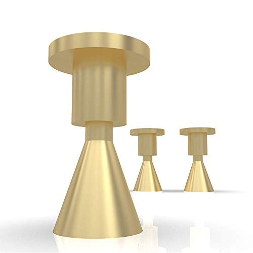 Gold Hooks for Wall Set of 2 – Decorative Wall Hooks Brass Metal – Modern Entryway Hooks – Bathroom Towel Hooks - Hanging Simple Wall Mounted Coat Hook
