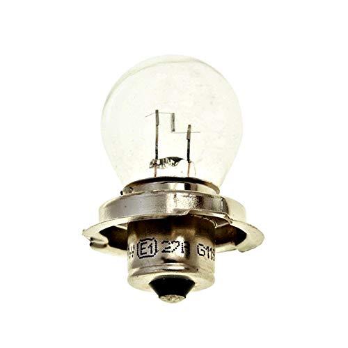 6V Glühbirne/Lampe mit E-Zeichen - P26S - 15W - Roller Motorrad Scheinwerfer