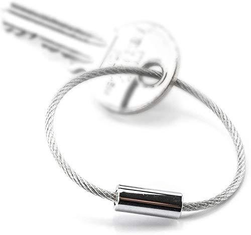 TROIKA Basic Set 99Z202 – -TB-99Z202-5 Drahtschlaufen für TROIKA LED-Schlüsselanhänger und Little King + Little Queen – 14,5 cm lang, glänzend – Silber – Original von TROIKA