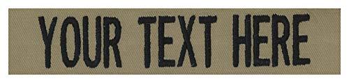 Northern Safari Custom Uniform Name Tape 24 Hour Ship, Coyote Tan, 5 Inch Sew on