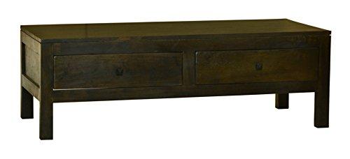 MiaMöbel Couchtisch Ashoka 120x40x60 cm Kolonialstil Massivholz Akazie Walnuss