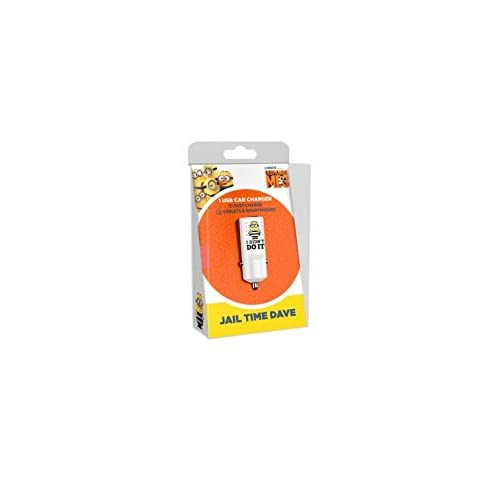 Caricabatteria da Auto Jail Time - 2.4 A Fast Charge - Caricatore USB Universale - Originale Minions, Tribe CCR12102