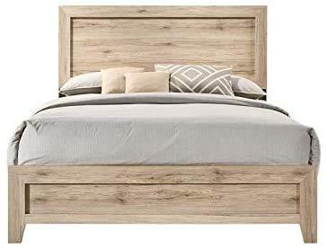 Acme Miquell Queen Bed, Natural 28040Q (Natural)