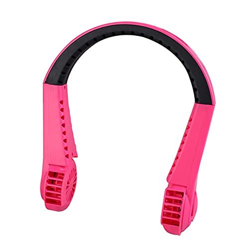 KAIMO Acondicionadores de aire móviles, ventilador de enfriador, USB recargable, portátil, 3 velocidades ajustables, mini ventilador de cuello sin cuchilla, para deportes de interior y exterior