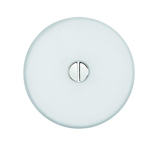 Flos Mini Button EU DIFF PLAST.Opal/Opal, Glas, transparent, 14x4,6cm