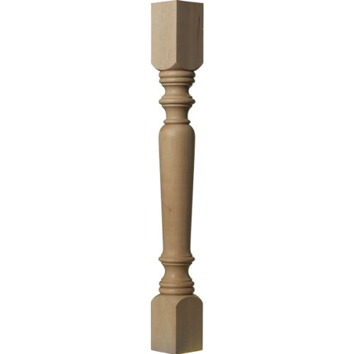 Ekena Millwork COL03X03X35LERW 3 3/4-Inch W x 3 3/4-Inch D x 35 1/2-Inch H Legacy Tapered Cabinet Column, Rubberwood