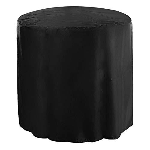 Omabeta Outdoor Garden Patio Wasserdicht Staubdichte Oxford-Stoffmöbel Tischdecke Schutz für Stuhl und Tisch Rattan Sofa(schwarz)