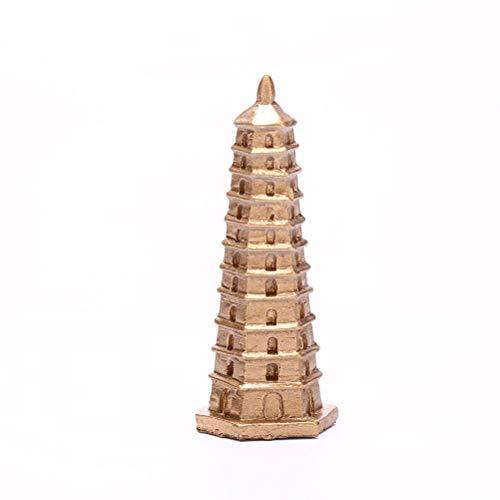 Opuntia Mo Mini-Pagoden-Turm für Feengarten, Miniaturen, Zwerge, Moos, Terrarien, Kunstharz, Bastelfiguren für Heimdekoration, Zubehör, 5,5 cm