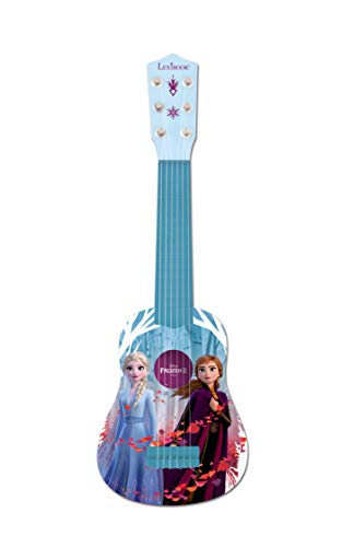 LEXiBOOK Disney Frozen Elsa My First Guitar for Children, 6 Nylon Strings, 21'' Long,  Guide Included, Blue / Purple, K200FZ