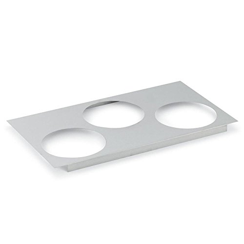 """Vollrath (72228) 6-1/2"""" Three Hole Adapter Plate for Warmer"""