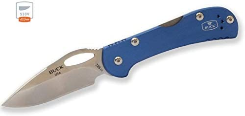 Buck Knives 726 Mini Spitfire Blue BOS S30V Steel Folding Knife 0726BLSSH Exclusive product image