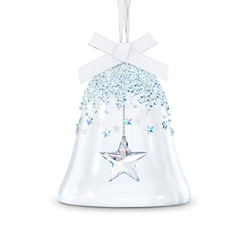 SWAROVSKI Christmas Ornament Bell & Star Glass