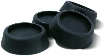Ideaworks JB6368 Washing Machine Anti-Vibration Pads, 1-pack, Black, 4 Count