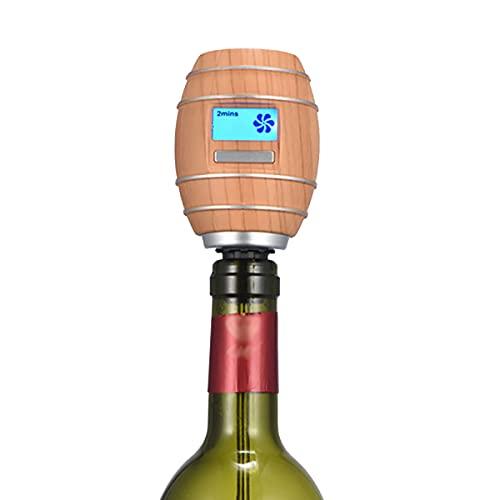 NgMik Automatische Wijndispenser Automatische Wijndispenser Elektrische Wijnbeluchter Pourer Houtnerf Lucht Wijnkaraf…