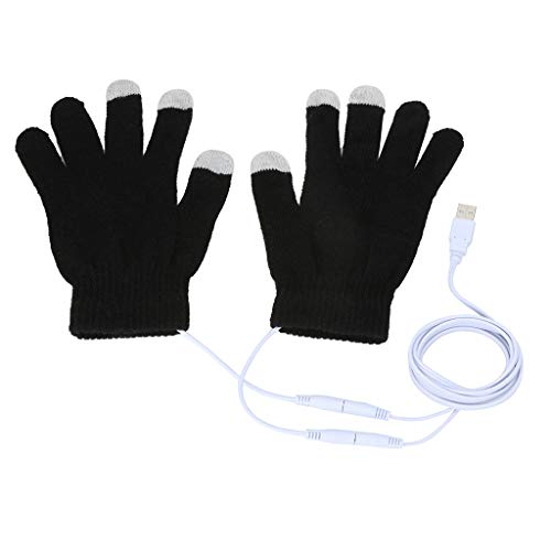 Colorful Beheizbare Handschuhe, Atmungsaktive USB Beheizt Handschuhe Warm Winter Handschuhe Handwärmer mit kapazitiven Fingerkuppen für Damen Mädchen