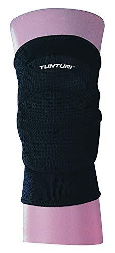 Tunturi Unisex Volleybal Schutz elastische Sport Bein Knee Guard Bandage Wrap Protektor Pads Sleeve für Dancing Basketball Volleyball (Jr), schwarz, 1