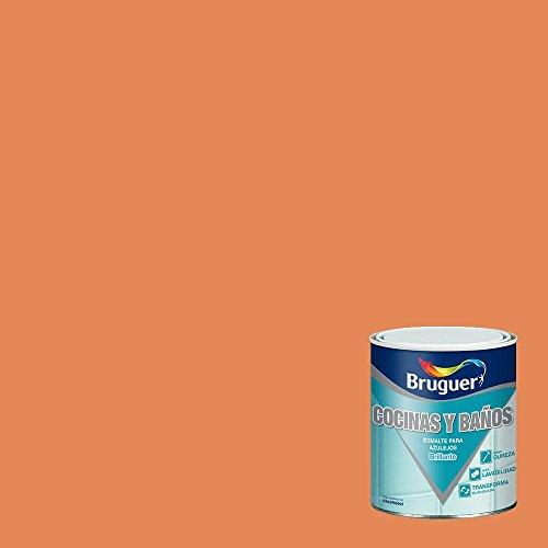 Bruguer 5160700 - Esmalte para azulejos brillante NARANJA TEJA Bruguer 750 ml