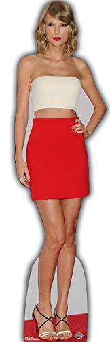 Star Cutouts Ltd CS619 Taylor Swift Lebensgröße Pappaufsteller für Fans, Freunde, Familie und Veranstaltungen, 180 x 54 cm, mehrfarbig