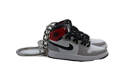 Generisch Jordan 1 Light Smoke Grey Mini - Zapatillas deportivas (1 par), color gris
