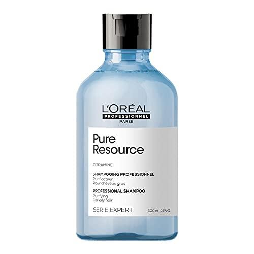 L'Oréal Professionnel | Champú Tratamiento contra el afinamiento capilar para cabellos grasos, Pure Resource, SERIE EXPERT, 300mL