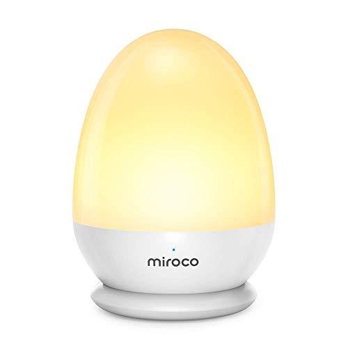 Nachtlicht Kind, Miroco Nachttischlampe Kinder Baby,Touch Control and Hangable LED Nachtlicht Kinderzimmer, Batterie 200 Stunden USB Steckdose IP65 Wasserschutzgrad ABS+PP SOS-Modus