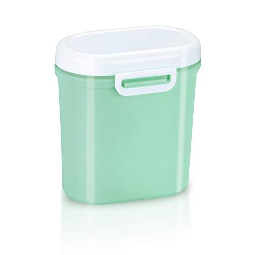 Milchpulver Aufbewahrung Milchpulver Spender Portable Baby Milchpulver Dose Container Box BPA-frei Lebensmittel Snacks Obst Lagerung, für Infant Kleinkind Kinder-Anzug für die Reise 600ML (Grün)
