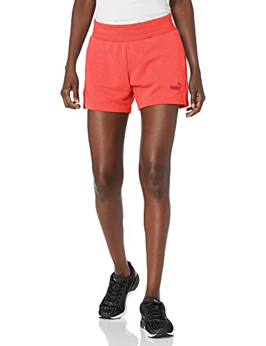 PUMA Essentials 4' Sweat Shorts Pantalones Cortos, Georgia Peach, M para Mujer