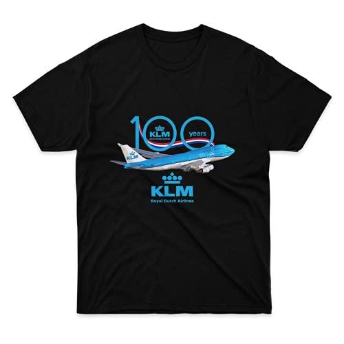 Mens Womens Tshirt 100 Years Boeings 747 KLM Royal Dutch Airlines Shirts for Men...