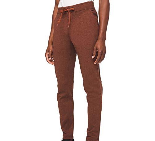 Lululemon Men's City Sweat Pant Classic Thermo (Heathered Dark Terracotta, XL)