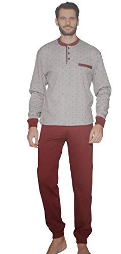 CONQUISTA Pijama de hombre Serafino cálido algodón con mu�