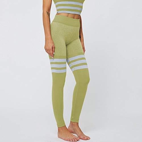 LBBL Collants et leggings de sport Leggings Pour Femmes Taille Haute Hanches Pêche Leggings Gymnastique À Séchage Rapide Pantalons Fitness Extensibles À Séchage Rapide Motif À Rayures Leggings de Spor