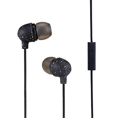 The House of Marley EM-JE061-BK Little Bird Auricolari con Microfono, Risposta in Frequenza: 20hz - 20 KHz,Driver: 9.2mm, Input : 3.5mm Stereo, Nero