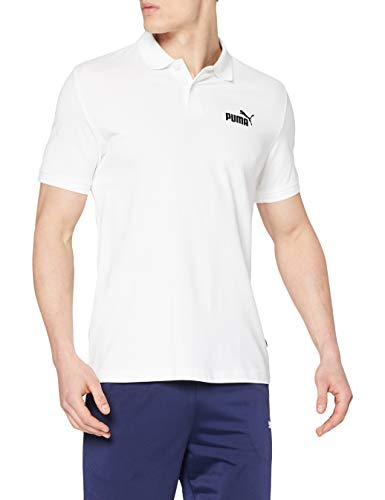PUMA Essential Pique Polo H Camiseta de Manga Corta, Hombre, Blanco (White), M