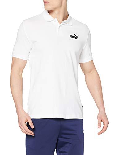 PUMA Herren Essential Pique Polo_851759 Poloshirt, PUMA White, L