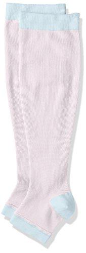 [セシール] おやすみ着圧ハイソックス(アシスキット) SK-365 ブルーラベンダー 日本 M-L (日本サイズM-L相当)