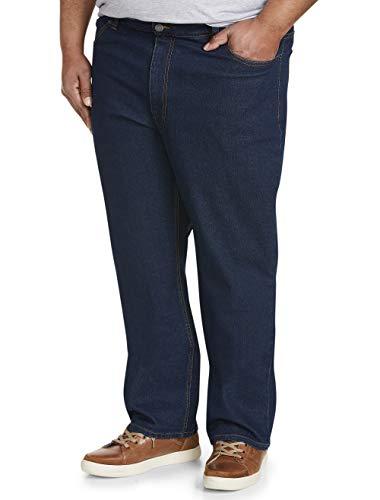Amazon Essentials Men's Big & Tall Relaxed-Fit Stretch Jean, Dark Wash 54W x 28L