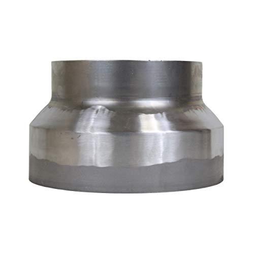LANZZAS Rauchrohr Ofenrohr Reduzierung Ø 250 mm auf Ø 200 mm Stahl blank unlackiert Ofenrohrreduzierung