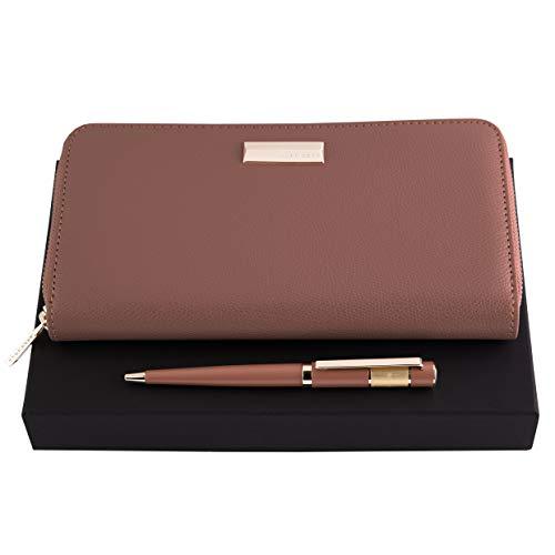 HUGO BOSS Set | Kugelschreiber und Notizbuch-Umschlag | Geschenk-Etui