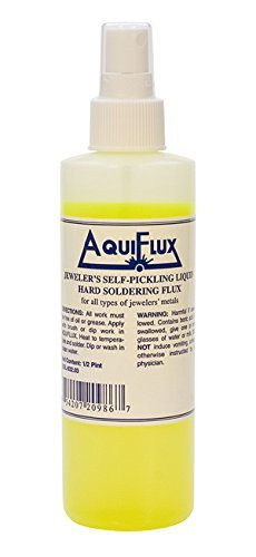 Aquiflux Self Pickling Flux for Precious Metals Gold Silver Jewelry and Hard Soldering 8 Oz (Half Pint)