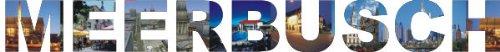 PEMA INDIGOS UG - Wandtattoo Wandsticker Wandaufkleber - Aufkleber farbige Wandschrift Städtename Städtename Meerbusch mit Sehenswürdigkeiten 180 x 19 cm Länge