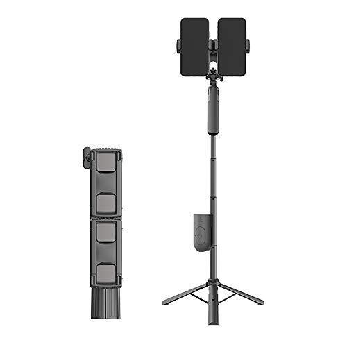 LISRUILY Palo Selfie, Selfie Stick Bluetooth con mando a distancia Trípode Bluetooth Palo Selfie Ajustable Telescópico 3 en 1 Extensible 360 Rotación para iPhone, Samsung, Huawei, Smartphones