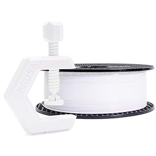 Prusament Prusa PETG Signal White Filament 1.75mm 1kg Spool (2.2 lbs), Diameter Tolerance +/- 0.02mm