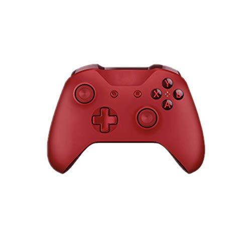 HUDEMR Gamepads Red Gamepad contrôleur de Jeu sans Fil Bluetooth Peut être utilisé for Ordinateur Mobile contrôleur Joystick (Color : Red, Size : 18.1X17.5X7.08cm)