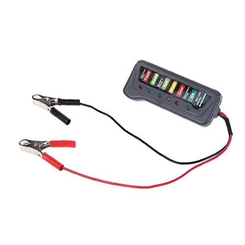 Probador de la batería de 12 V Funciones de batería de Coche del alternador Tester Multi Tester Prueba de Estado de la batería y el alternador de Carga con indicador LED para el Coche de la