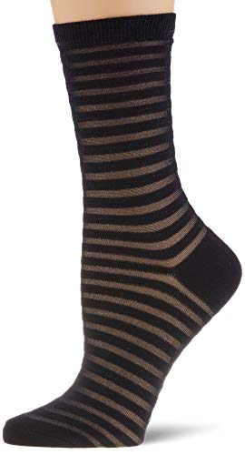 FALKE Damen Flash Rib Socken, blau (Dark Navy 6370), 35-38 (UK 2.5-5 Ι US 5-7.5)