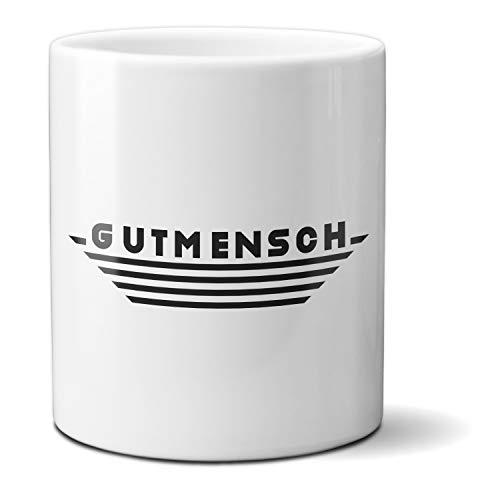 HAPPY FREAKS Spruch-Tasse 'Gutmensch' - Klassischer weißer Kaffeebecher aus Keramik