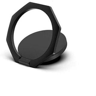 スマホリング black 黒 携帯リング バンカーリング 落下防 iPhone リング スマホ 携帯 電話 リングスタンド 指輪型 軽い 薄い 安定 全機種対応 ホルダー リング ホールドリング スタンド