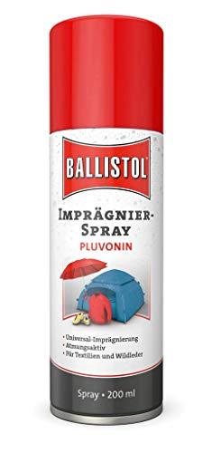 Ballistol Unisex– Erwachsene Technische Produkte Pluvonin Imprägnierspray Aerosoldose, Mehrfarbig, 200 ml